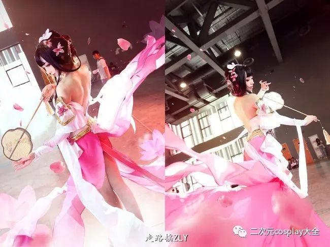 手执古风团扇温婉动人,王者荣耀甄姬游园惊梦cos图片