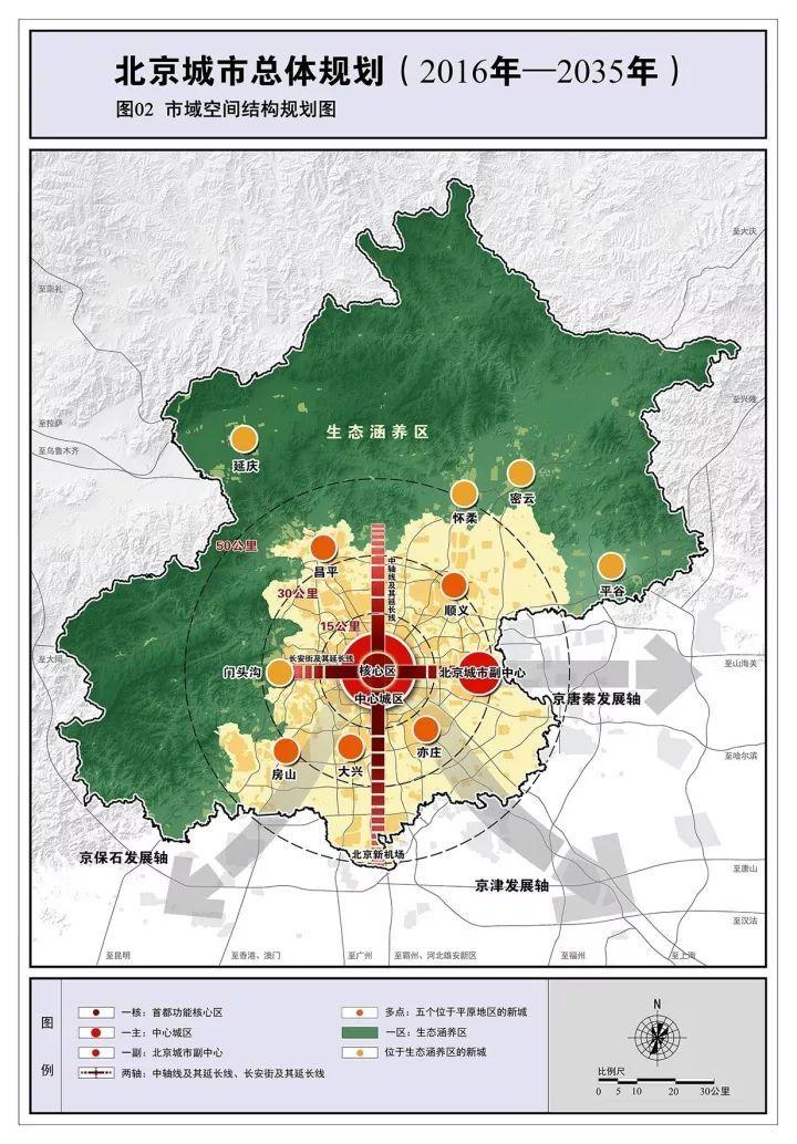 首次披露 24张完整北京城市总体规划图 2035