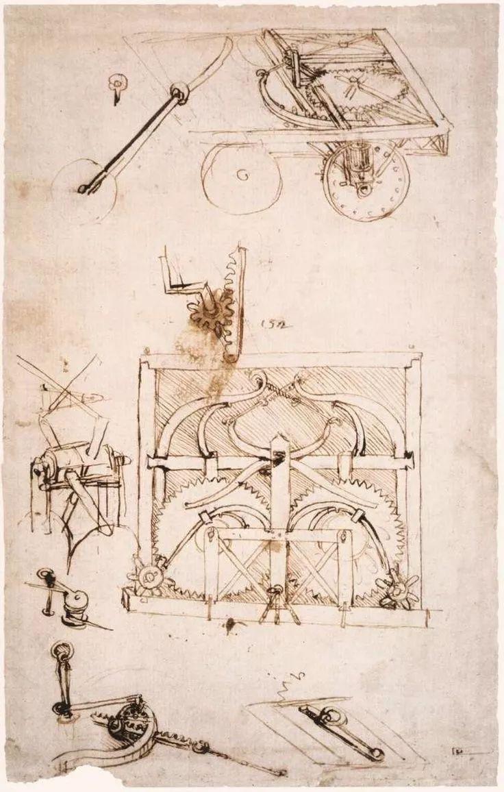 达芬奇汽车手绘图