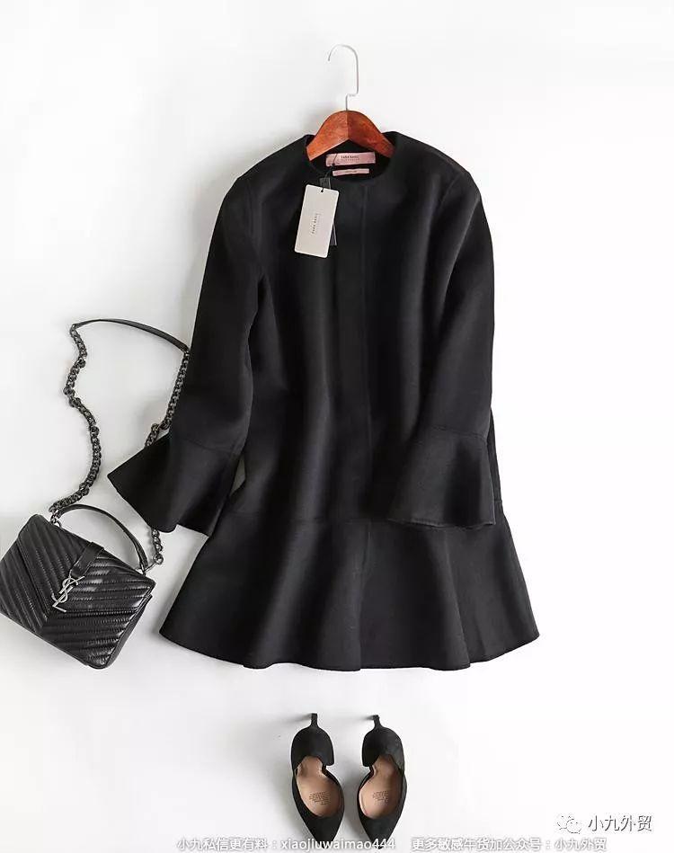 【全网最具性价比】zara原单羊毛大衣,超级好看的荷叶袖口设计!