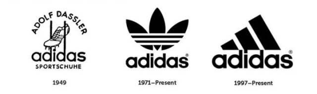 阿迪达斯除了创始人的三条纹logo 还有子品牌的三叶草logo 和山本图片
