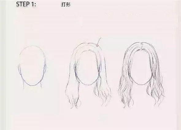 素描教程:头发的素描画画法精讲解析
