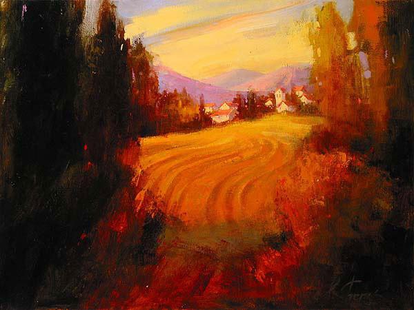 风景油画 乌克兰艺术家irene sheri作品