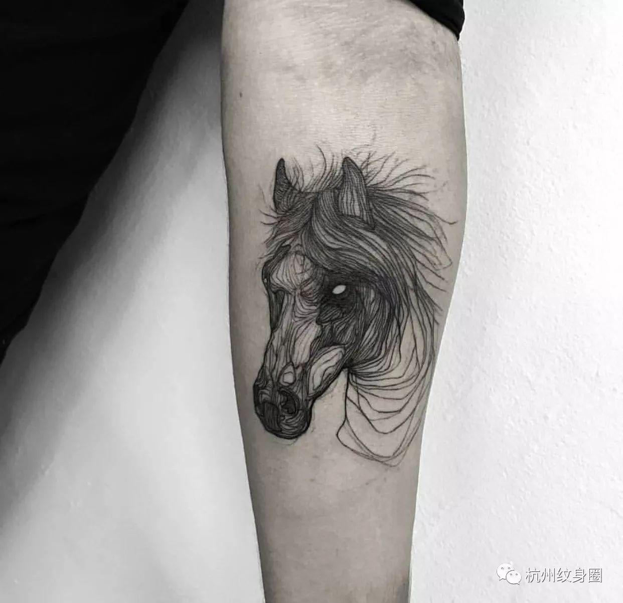 tattoo | 纹身素材:马
