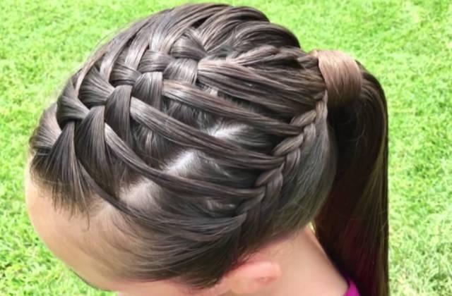 双瀑布编发|一款看似复杂却很简单的宝贝编发,妈妈们一定学得会!