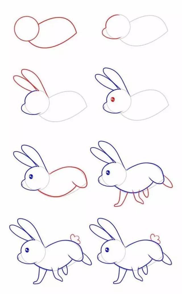 【简笔画】十二生肖简笔画图片