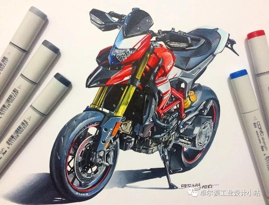 【手绘】酷到没朋友的摩托车手绘