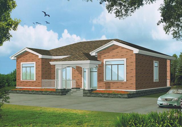 分享(3款一层农村别墅设计)一层别墅建好后照样受瞩目