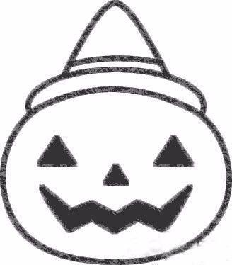 每日一画 教你 南瓜灯 简笔画,万圣节拿去装糖果吧