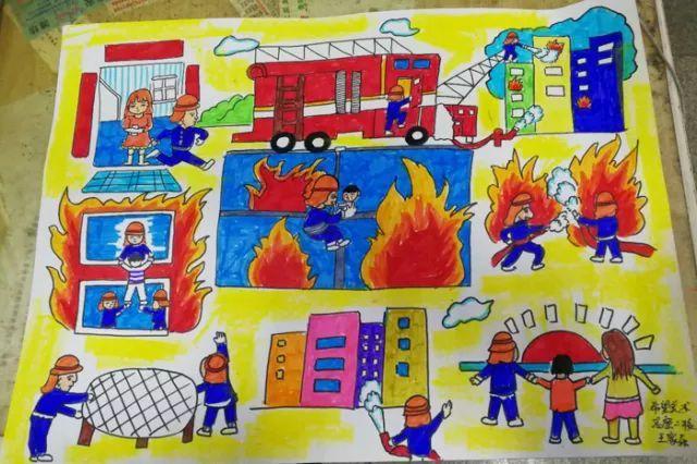 生家庭消防疏散逃生路线图绘画作品征集活动