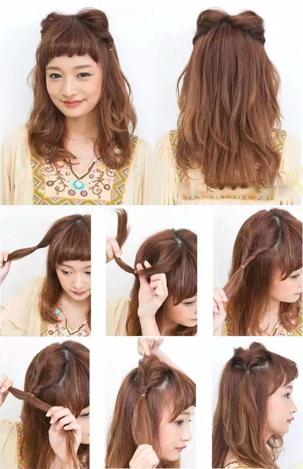 编发图文丨俏皮可爱的猫耳朵发型,折腾一下,更漂亮!图片