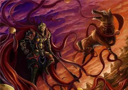 哮天犬对二郎神很是感激,所以忠心耿耿一世追随 二郎神和哮天犬一方面