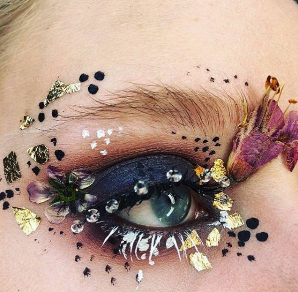 仙fly | 超惊艳的创意花仙子眼妆,美到挪不开眼!图片