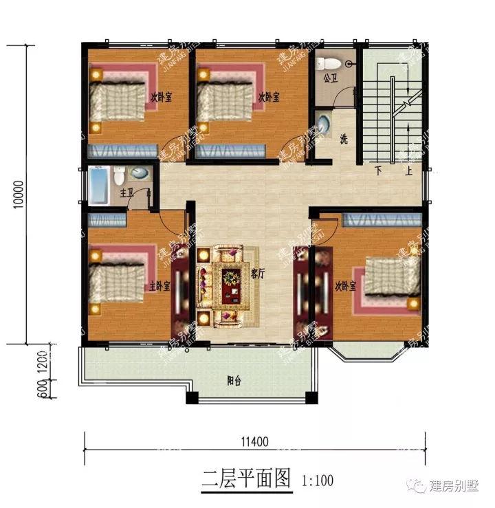 湖南人最爱建的四款三层农村别墅,都带堂屋设计,造型图片
