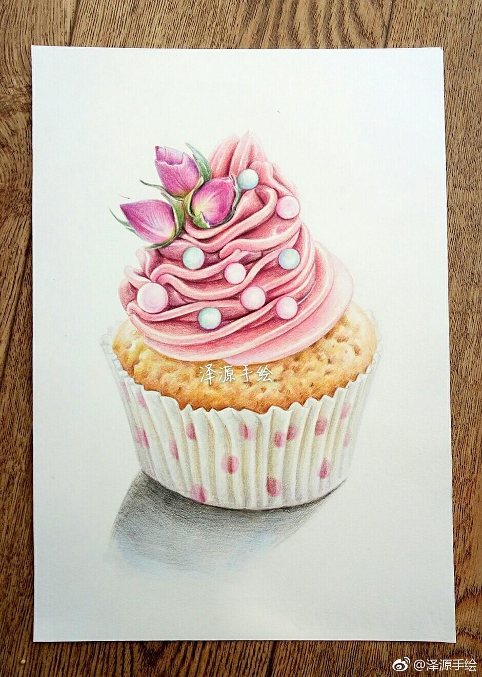 彩铅手绘鲜花蛋糕图集