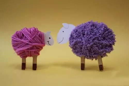 手工制作绵羊花