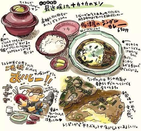 插画师 山崎达郎 手绘美食