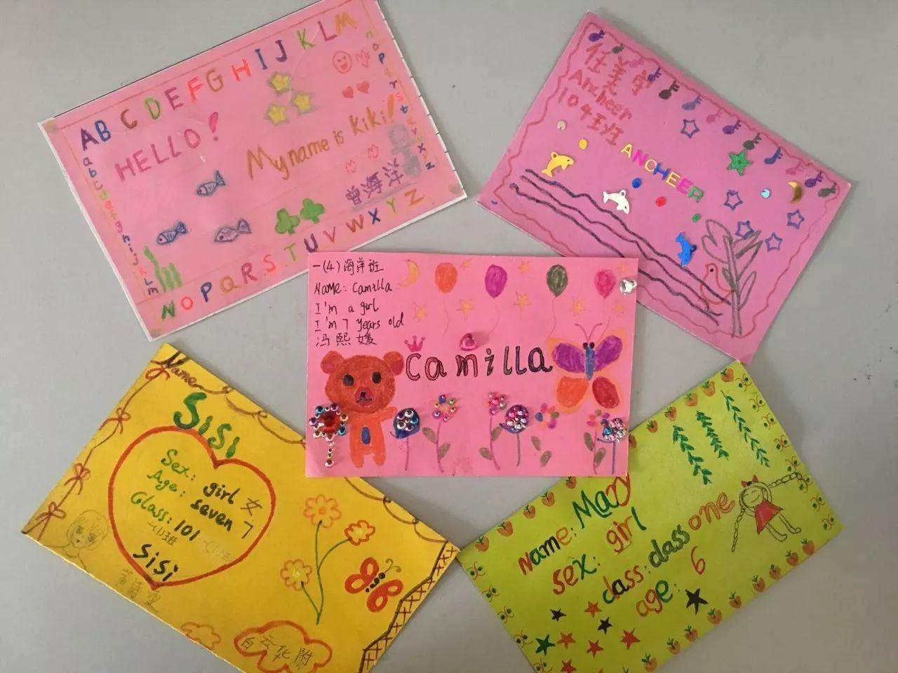 【创意作业】小学生设计英语名片,让孩子从小喜欢英语图片