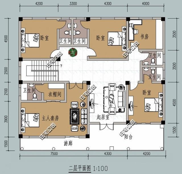 1.2米宽卫生间平面图