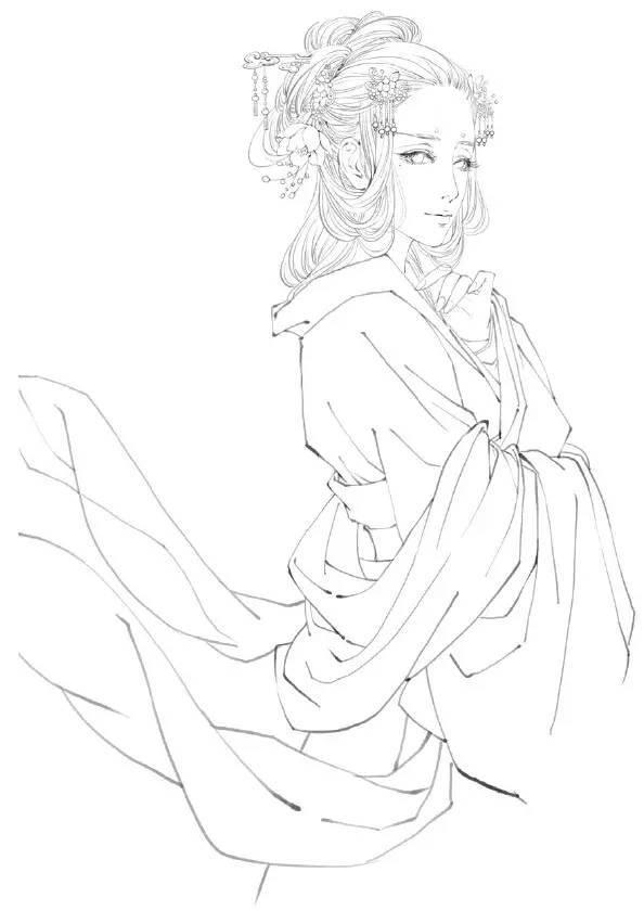 教程| 如何用ps画一个古装美女?