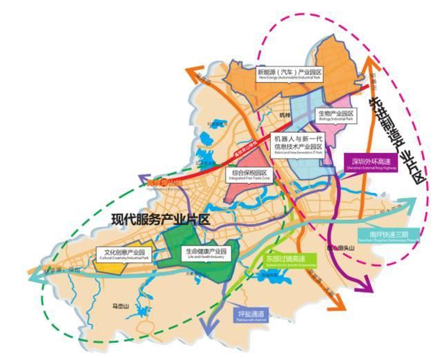 深圳行政区由目前的6个(福田区,罗湖区,南山区,盐田区,宝安区,龙岗区)图片