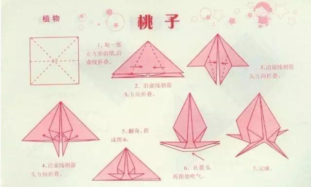 下面这一款寿桃折纸相对就简单一些,更适合中班的孩子.-重阳节图片