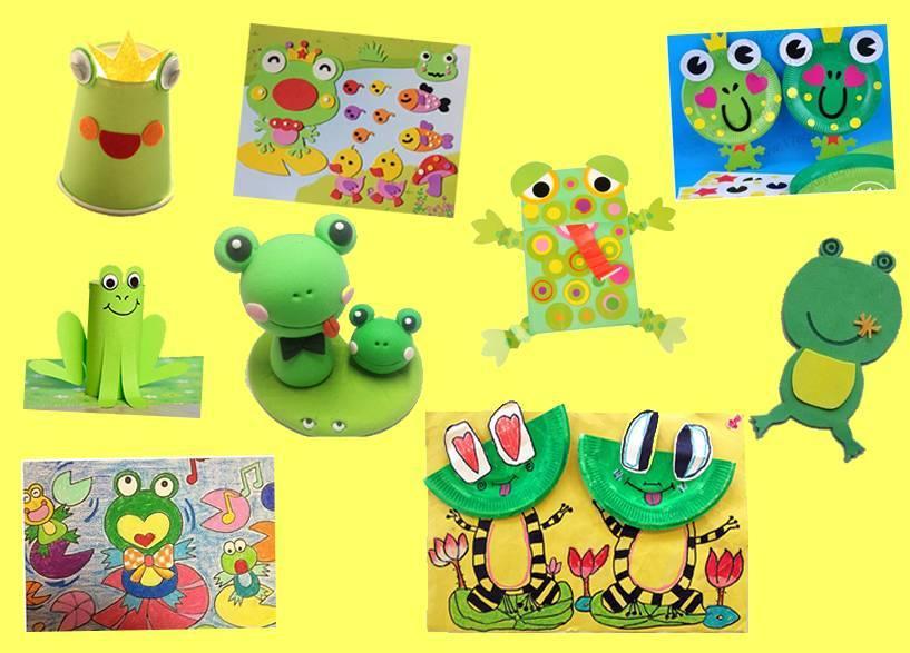原标题:【创意手工】可爱的青蛙门牌 小青蛙,是小朋友们既熟悉又喜爱的小动物。 一个小小游泳家,说起话来呱呱呱, 小时有尾没有脚,大了有脚没尾巴。 读一读谜语儿歌,跟着嘟嘟熊一起学做一个有趣的青蛙门牌吧。 把手工材料中的青蛙的身体部件分别剪下来;  把青蛙的胳膊和腿正反折叠,折成图中的样子;  按照图中的样子把青蛙的各个部位用胶水粘起来;