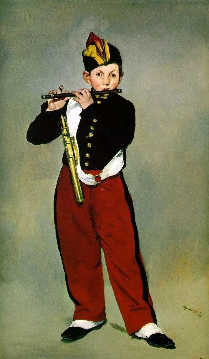 名画赏析 吹笛少年图片