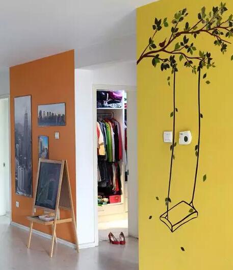 这样的创意手绘墙,家里就美美哒啦!