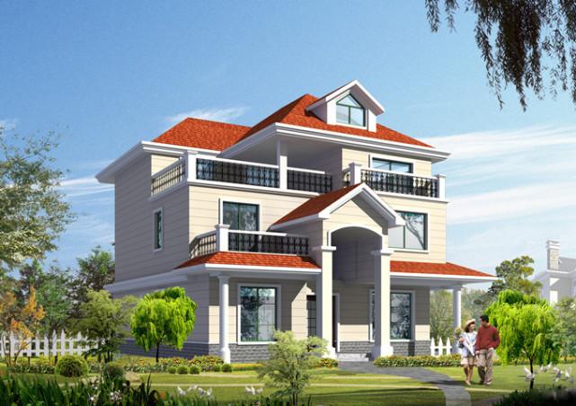 三层楼房设计图纸含效果图 框架结构,造价30多万,可能吗