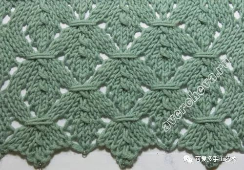 织毛衣的好帮手,漂亮的针织镂空花样大全(附图解)