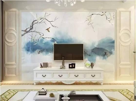 石材电视背景墙的设计施工及案例欣赏