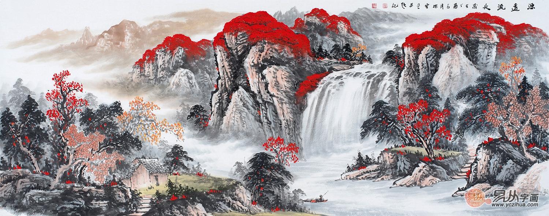 鸿运聚宝盆 李林宏最新山水画《鸿运当头》作品来源:易从网