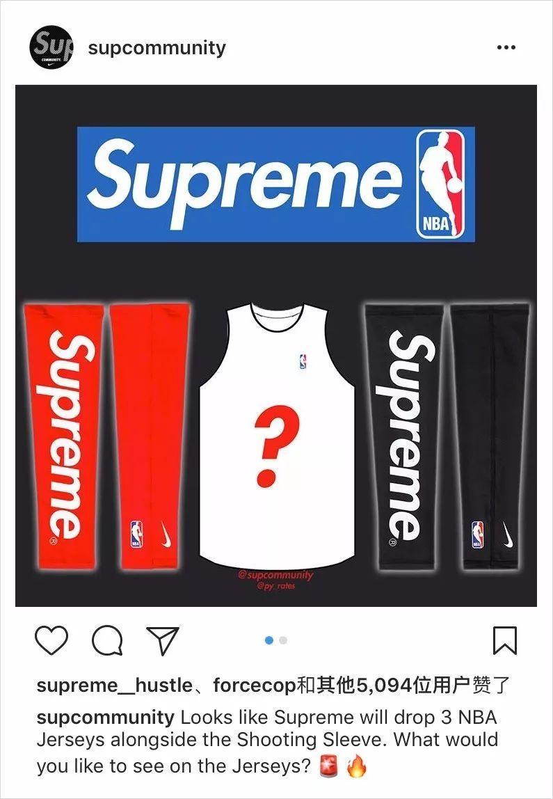 f4a1d0ab41 随着时间的推移,Supreme 2017 秋冬系列的发售已经大概进行到一半了,而接下来,早在开季时就曝光出的Nike  联名篮球袖套也快要正式登场了。除此之外,今日各大情报账号 ...