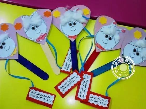 幼儿园重阳节创意手工diy,几十款教程,节日给长辈最温馨的爱!