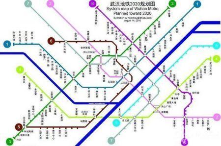 2020年武汉地铁规划图