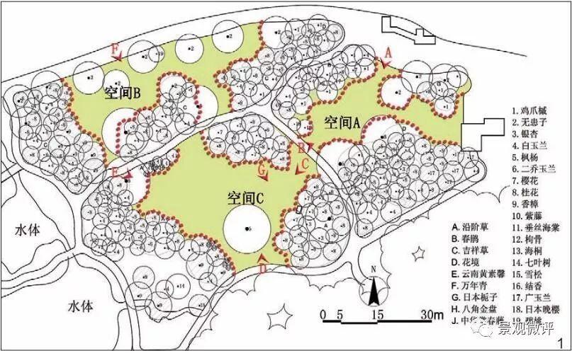 植物景观空间组合 | 分析