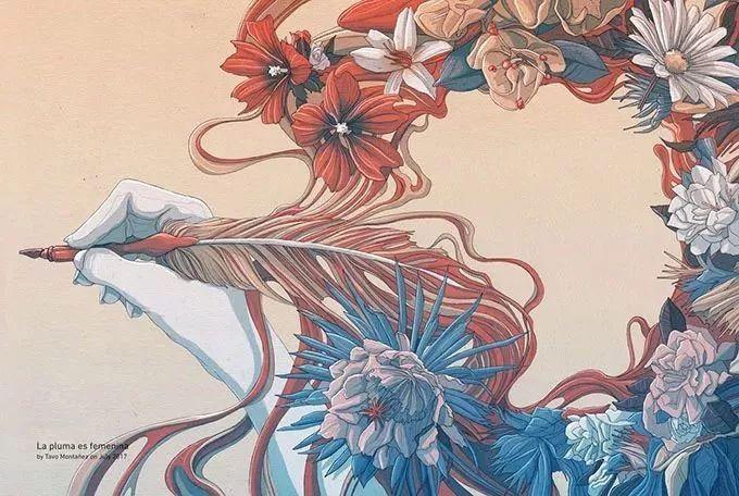 写实插画手法多采用素描,彩铅,水粉,水彩,油画,马克笔,丙烯,水墨等.