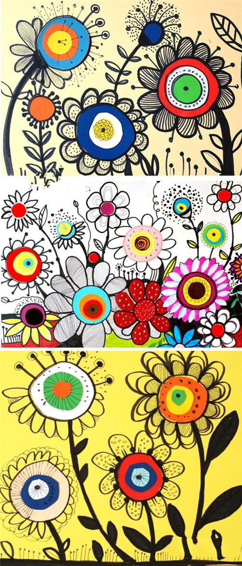 【教师篇】儿童画立体花画法,10分钟学会漂亮的立体图片