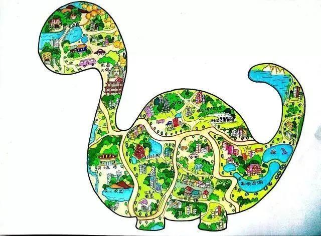汇东实验学校学生手绘自贡美食地图,带你吃遍自贡!