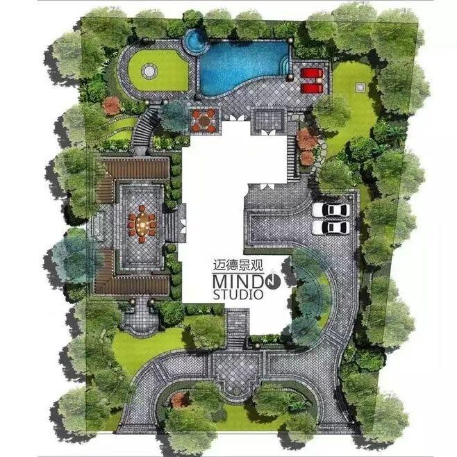 古代庭院建筑平面图
