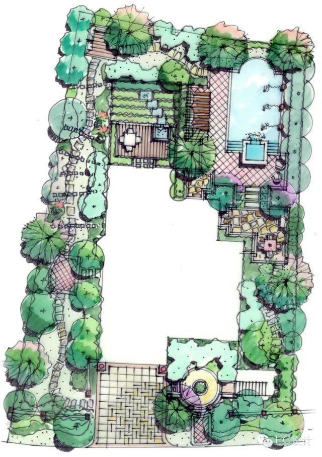 50张高清庭院设计平面图来啦