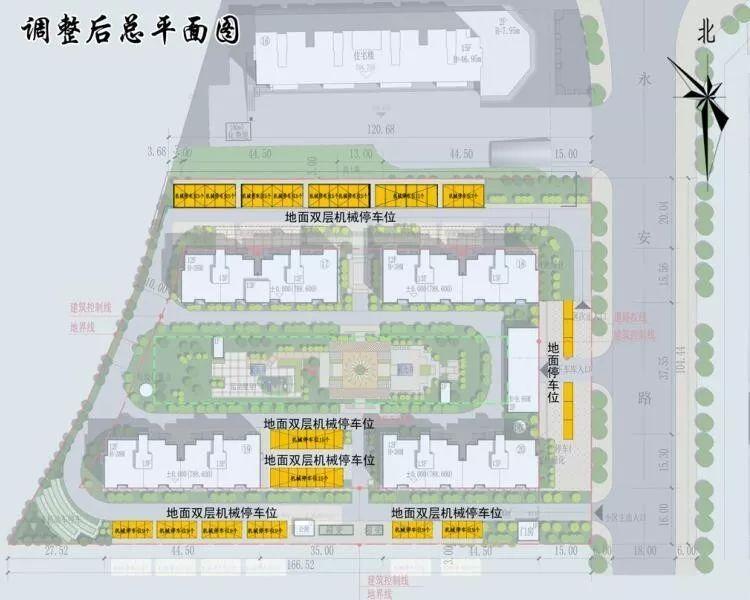 晋城一居住小区规划新鲜出炉 ,总平面图,停车场通通曝光