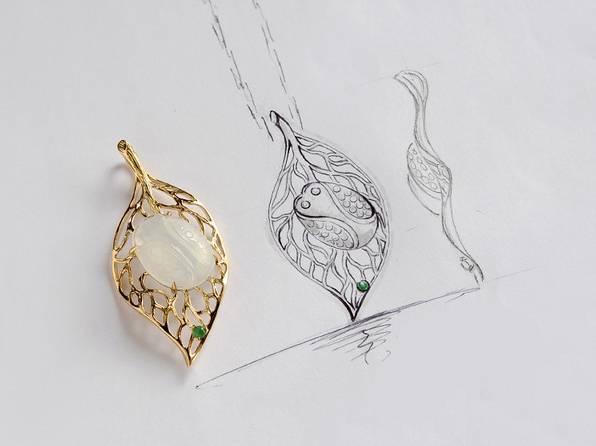 时尚 正文  就有设计师美轮美奂的设计手稿, 而这些珠宝的最初轮廓