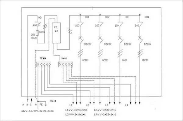 """""""一机,一闸,一漏,一箱,一锁""""的原则,即严禁同一个开关电器直接控制二"""