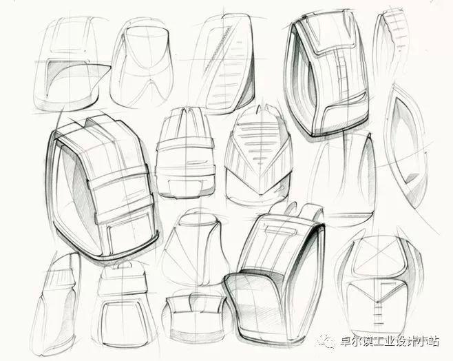包包设计素描效果图