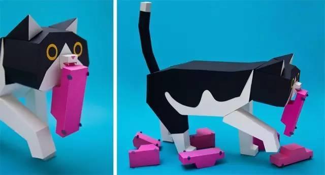 自制变形纸模玩具图纸