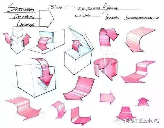 特别是工业设计考研快题设计的时候经常要箭头表达.