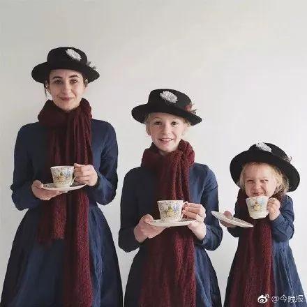 妈妈dominique与两个女儿 拍摄的超有创意家庭亲子照姿势大全, 让人图片
