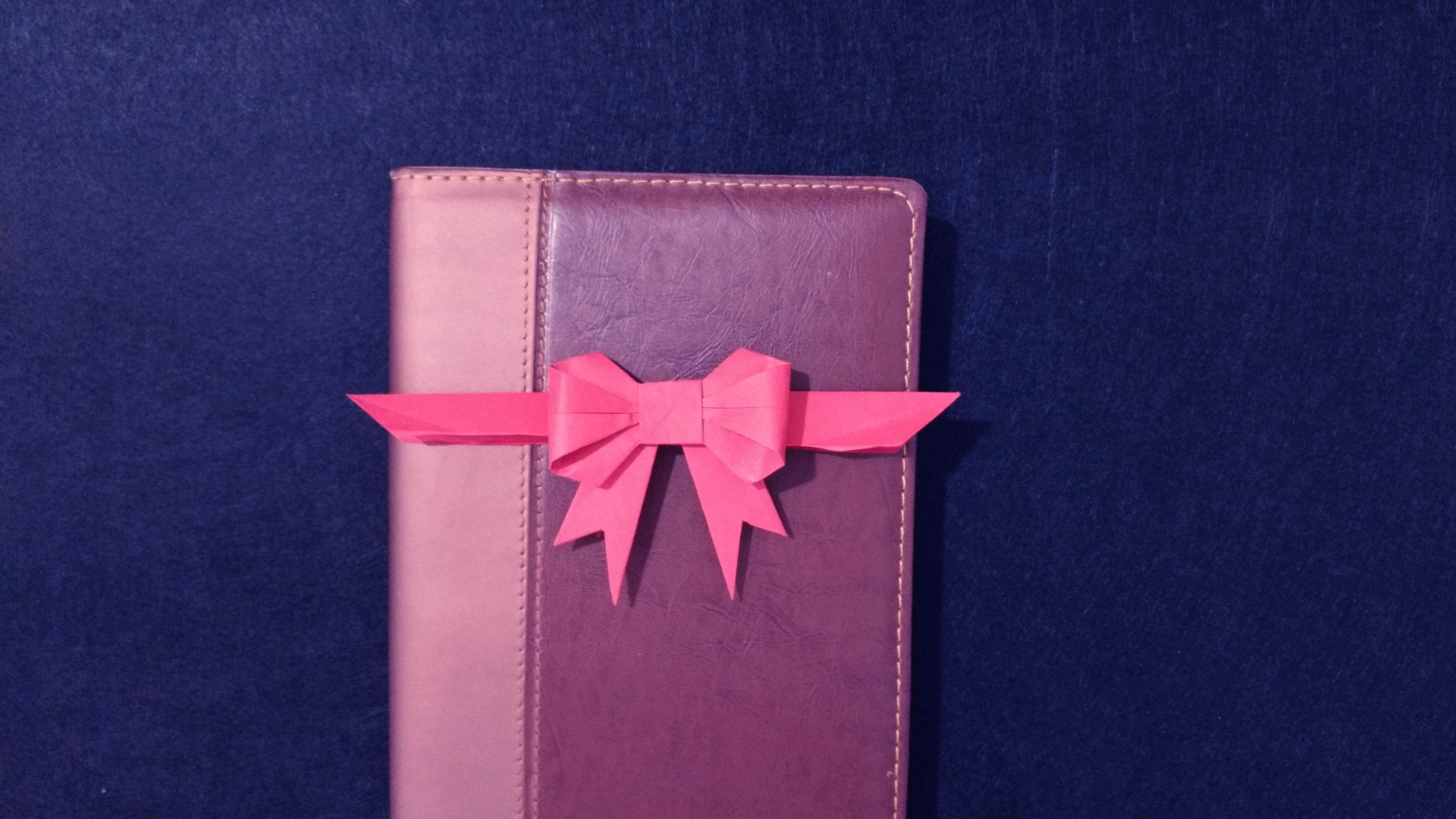 手工折纸蝴蝶结, 步骤简单, 教给小朋友学校用的到!